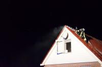 Forse schade bij schoorsteenbrand