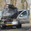 Mercedes in brand op de Westerdijk N361