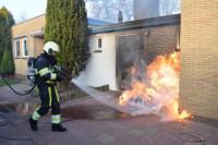 Schade aan woning door containerbrand