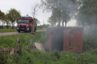Buitenbrand blijkt rokend stenen schuurtje