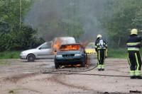 Sloopauto in brand Burgum