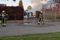 Garage uitgebrand in Harkema