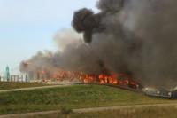 Grote brand restaurant Lauwersoog