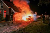 Personenauto uitgebrand in Damwâld