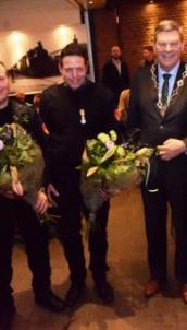 Koninklijke onderscheiding voor vier leden brandweer De Westereen